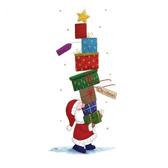 Stack of Presents Xmas Card