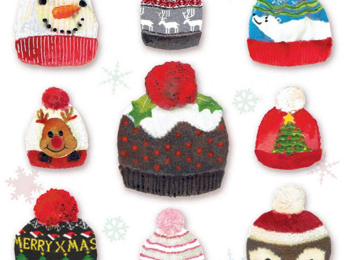 Christmas Hats Xmas Card