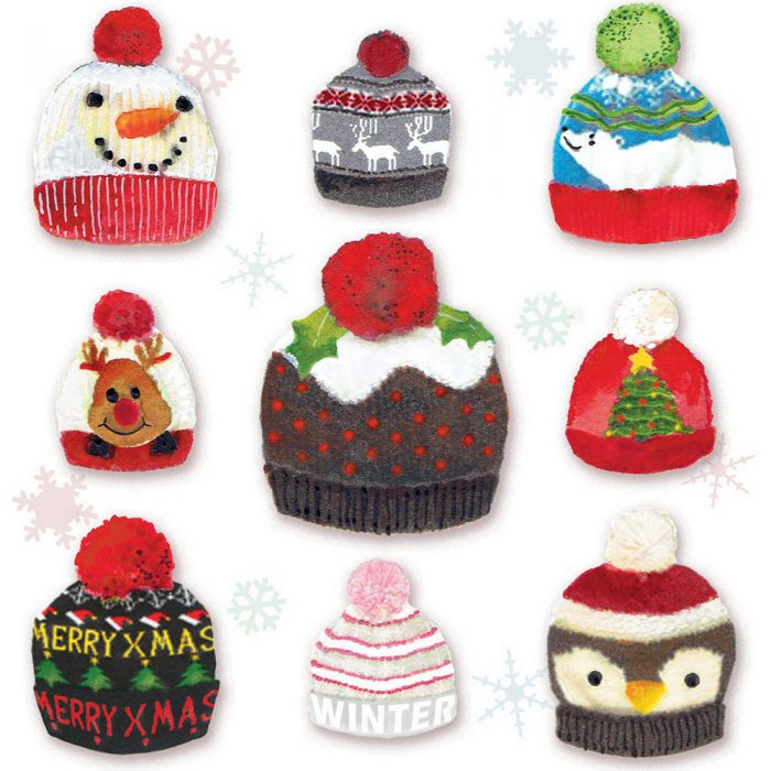 Christmas Hats Xmas Card