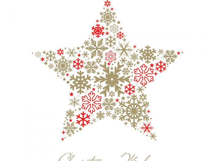 Golden Star Xmas Card