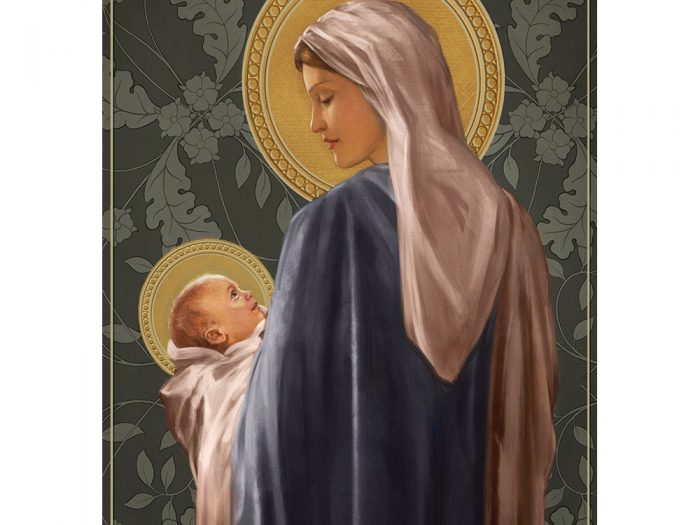 Mary and Child Xmas Card
