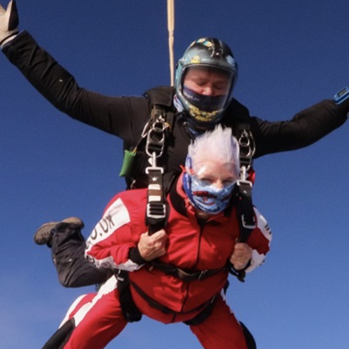 90 year old sky diver